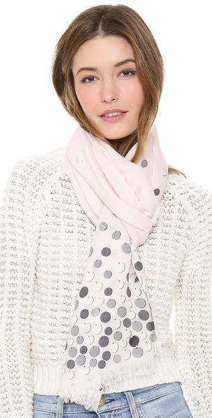 Kate Spade All That Glitters Paillettes Scarf - Lyst