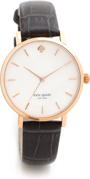 Kate Spade City Fog Croc Embossed Watch - Lyst