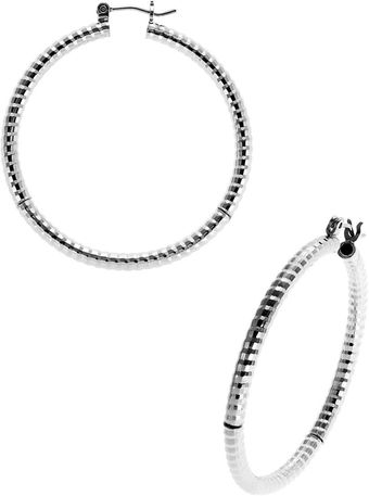 Kensie Textured Metal Hoops - Lyst