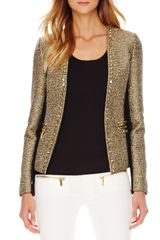 Michael by Michael Kors Studded Tweedponte Jacket - Lyst