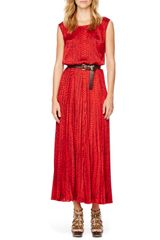 Michael by Michael Kors Printed Pleated Maxi Dress - Lyst