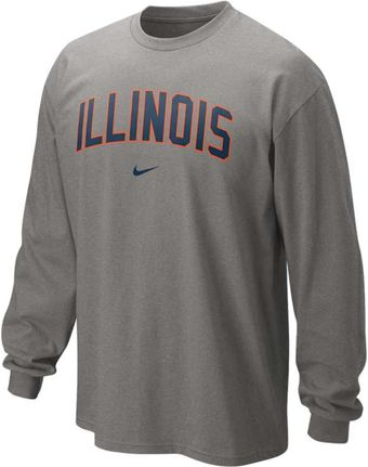 Nike Mens Longsleeve Illinois Fighting Illini Tshirt - Lyst
