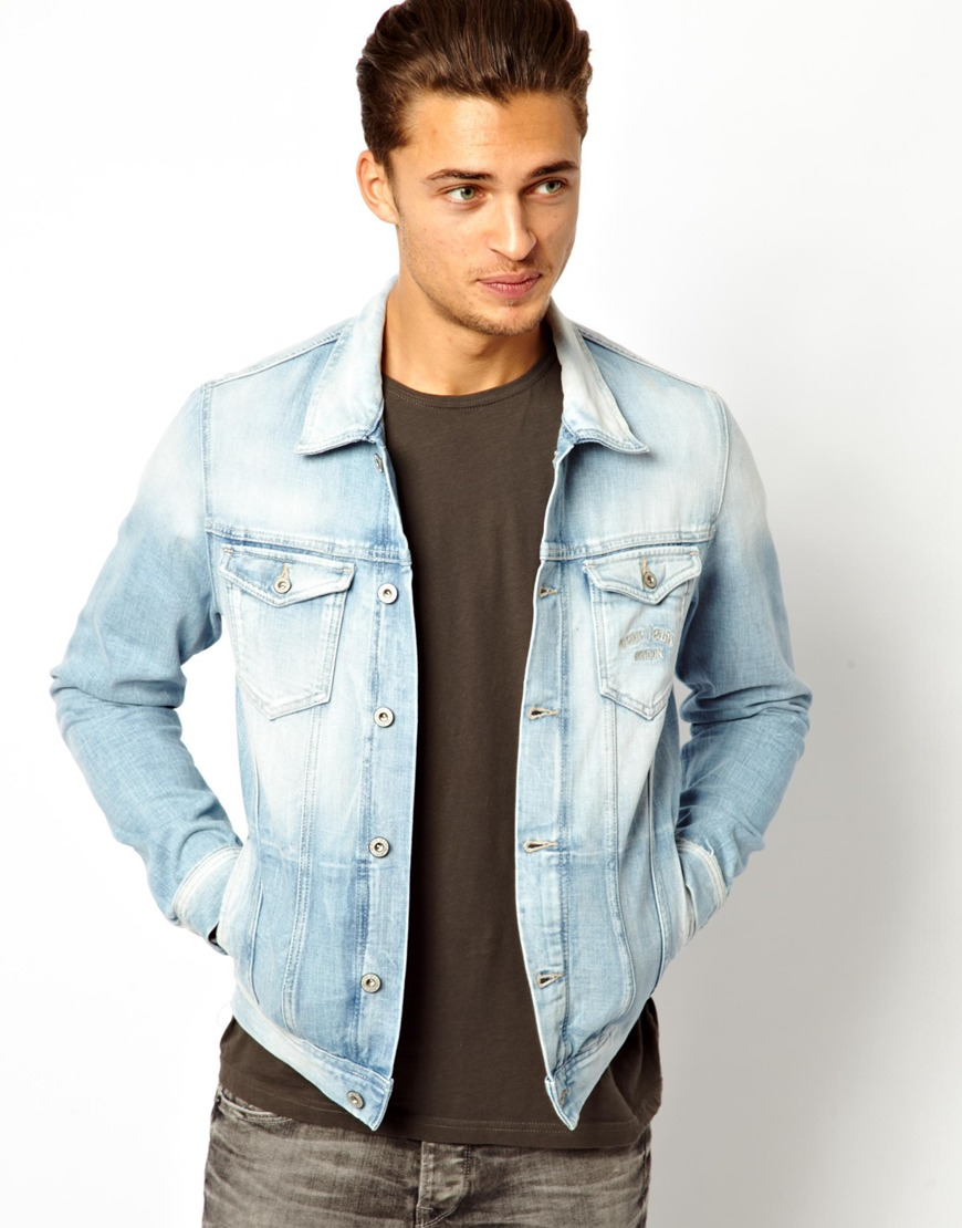 Pepe jeans Pepe Denim Jacket Legend Slim Fit Light Wash in Black ...