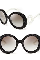 Prada Round Absolute Baroque Crystal Sunglasses - Lyst
