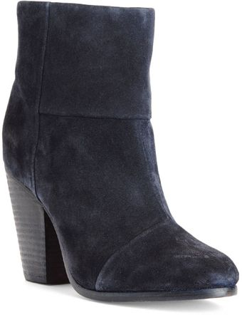 Rag & Bone Newbury Boot Navy Suede - Lyst