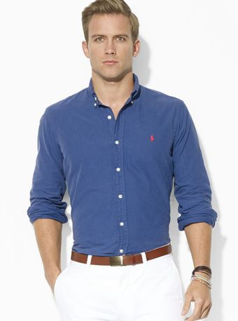 Ralph Lauren Polo Washed Oxford Sport Shirt - Lyst