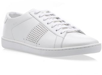 Saint Laurent Sl01 Leather Sneaker - Lyst