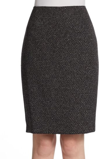 Tahari Bennet Tweed Pencil Skirt - Lyst