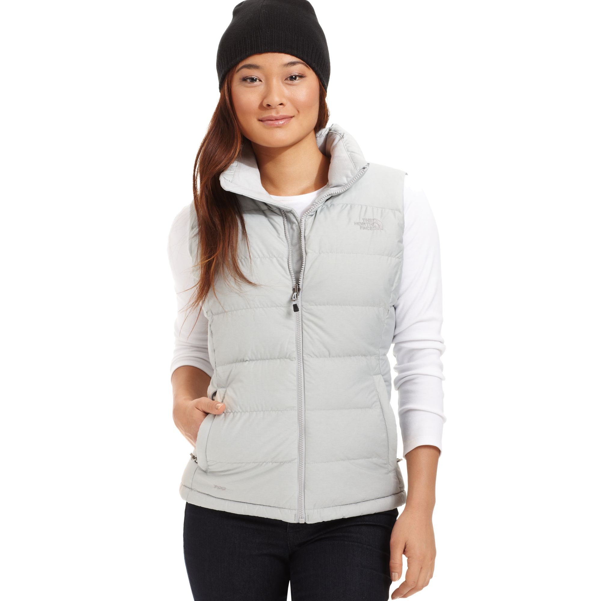 e4f826d2e088 ... official lyst the north face nupste down puffer vest in gray edf63 b0995