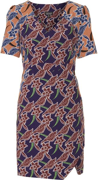 Topshop Tropical Mix Tea Dress - Lyst