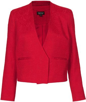 Topshop Embossed Tailored Jacket - Lyst