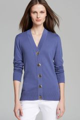 Tory Burch Simone Cotton Cardigan - Lyst