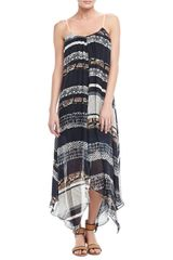 Twelfth Street by Cynthia Vincent Handkerchief Printed Silk Dress - Lyst