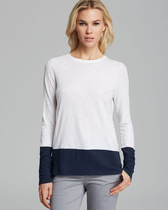 Vince Tee Color Block - Lyst
