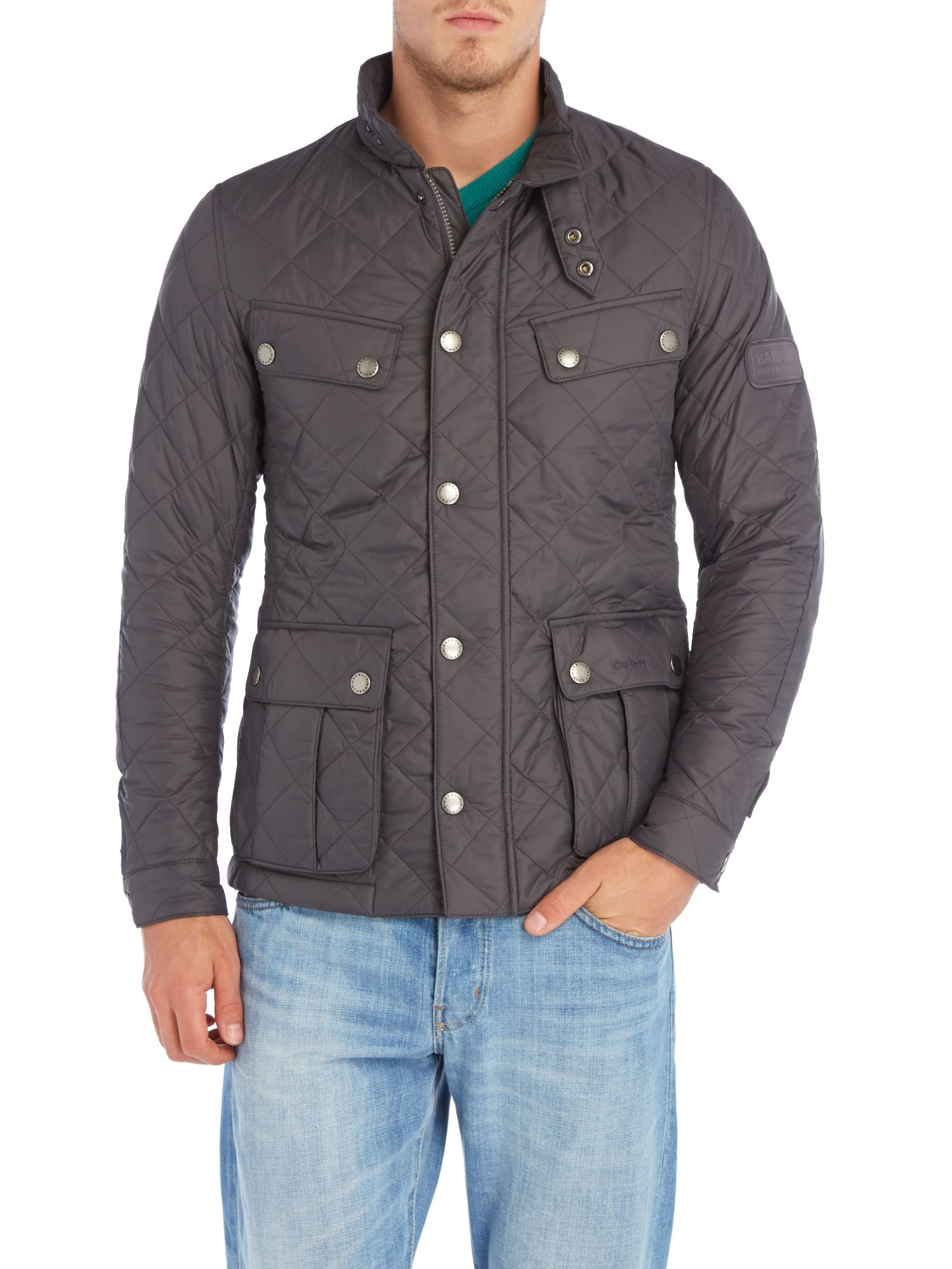 Barbour Ariel Quilted Jacket In Gray For Men Lyst