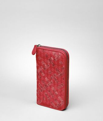 Bottega Veneta Fraise Intrecciato Ayers Nappa Zip Around Wallet - Lyst