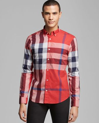 Burberry Brit Fred Exploded Check Sport Shirt Slim Fit - Lyst