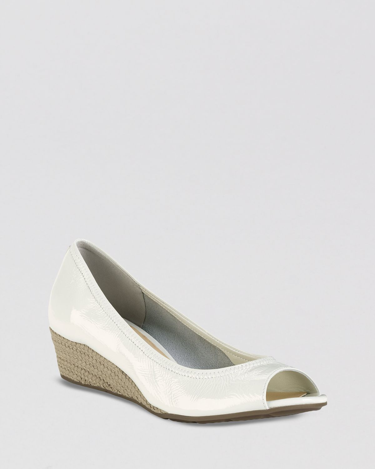 d3c301ad2350 Lyst - Cole Haan Open Toe Wedge Pumps Air Tali in Natural