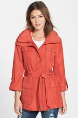 Ellen Tracy Belted Utility Trench Jacket - Lyst