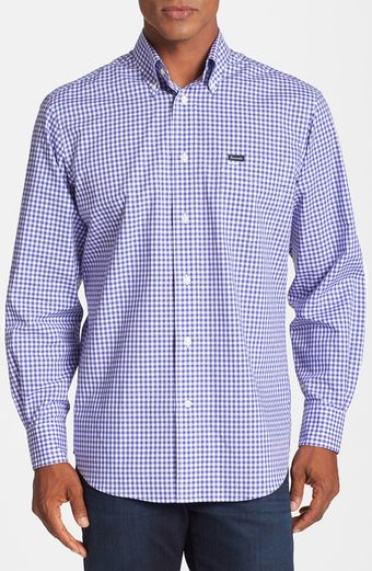 Faconnable Club Fit Gingham Sport Shirt - Lyst