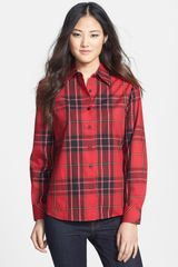 Foxcroft Holiday Tartan Shaped Shirt - Lyst