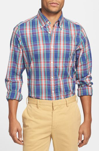 Gant Rugger Dreamy Plaid Oxford Shirt - Lyst