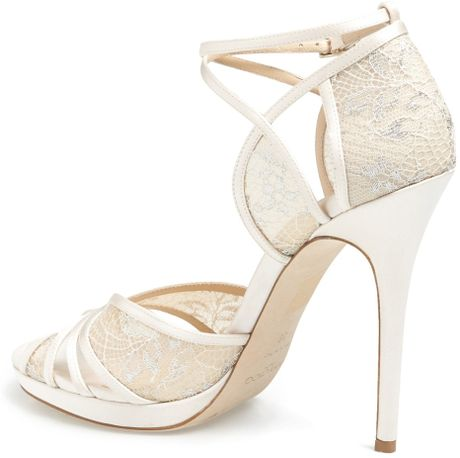 Ivory Lace Sandals Lace Platform Sandal in