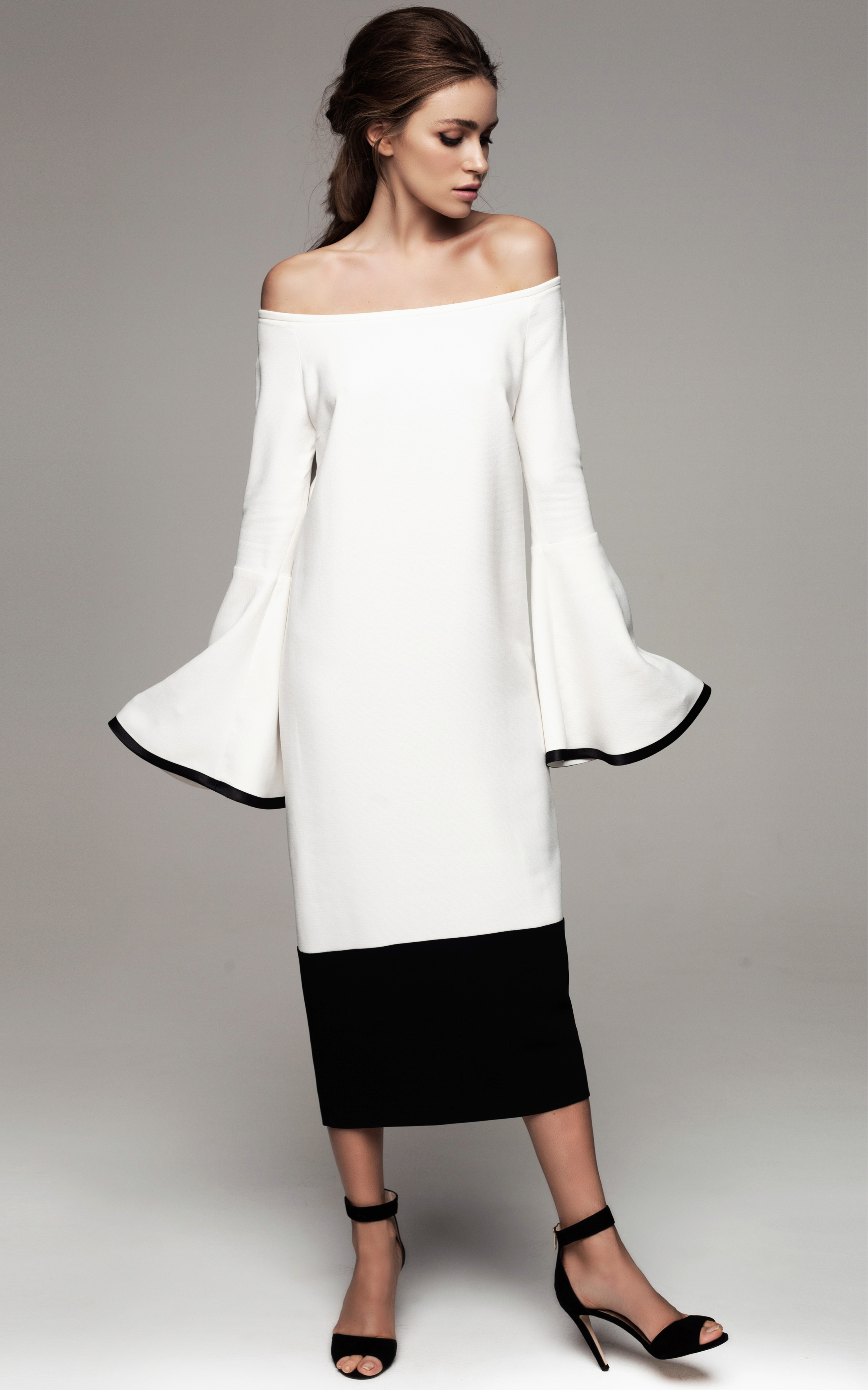Lyst Kalmanovich Color Block Black And White