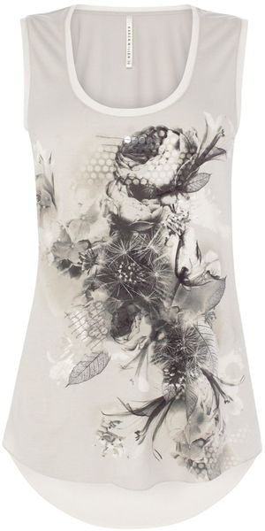 Karen Millen Beautiful Printed Tshirt - Lyst