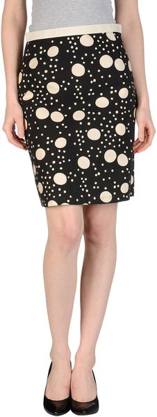 L'Autre Chose Knee Length Skirt - Lyst
