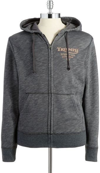 Lucky Brand Heathered Zip Up Sweatshirt - Lyst