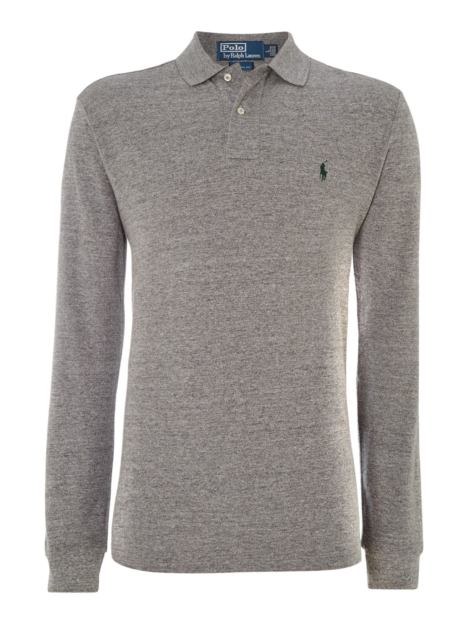 Lyst Polo Ralph Lauren Long Sleeve Polo Shirt In Gray