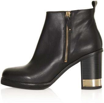 Topshop All Ours Zip Side Boots - Lyst
