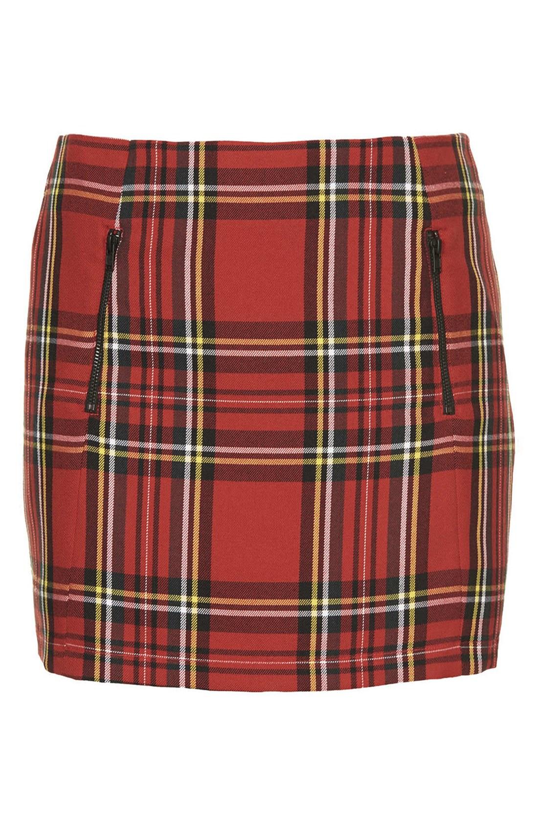 Plaid Red Skirt 38