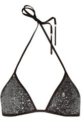 Agent Provocateur Zonia Sequined Triangle Bikini Top - Lyst