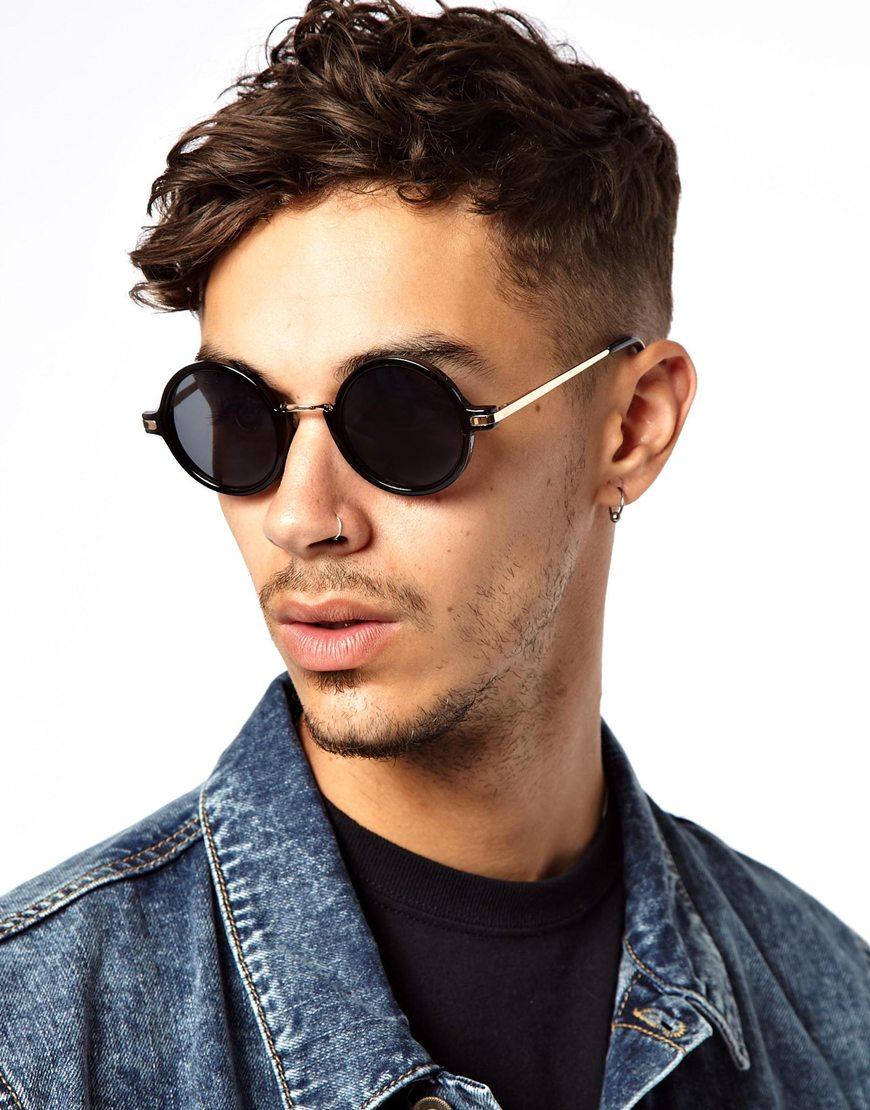 A J Morgan J Morgan Round Sunglasses In Black For Men Lyst