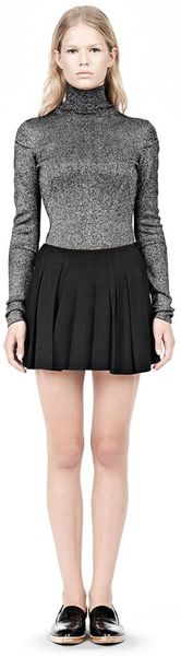 Alexander Wang Vacuum Pressed Irregular Seam Mini Skirt - Lyst