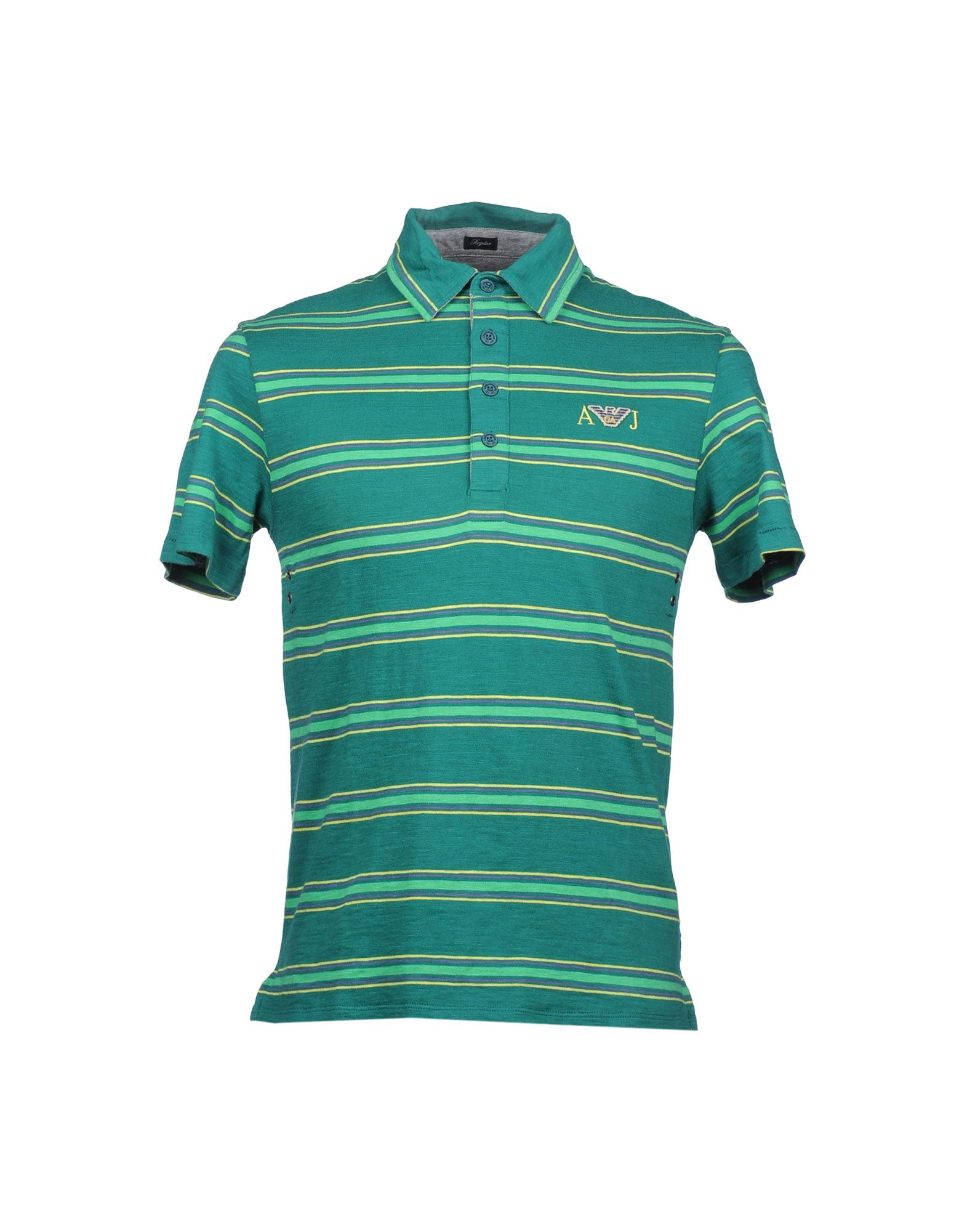 Armani jeans polo shirt in green for men emerald green Emerald green mens dress shirt
