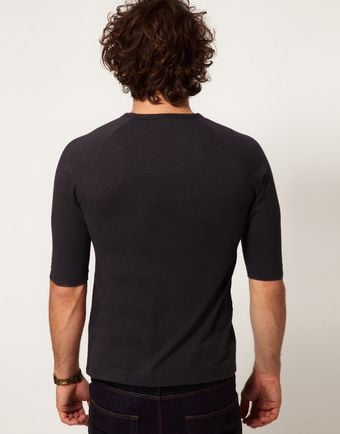 Asos 34 Sleeve Tshirt with Raglan Sleeves - Lyst