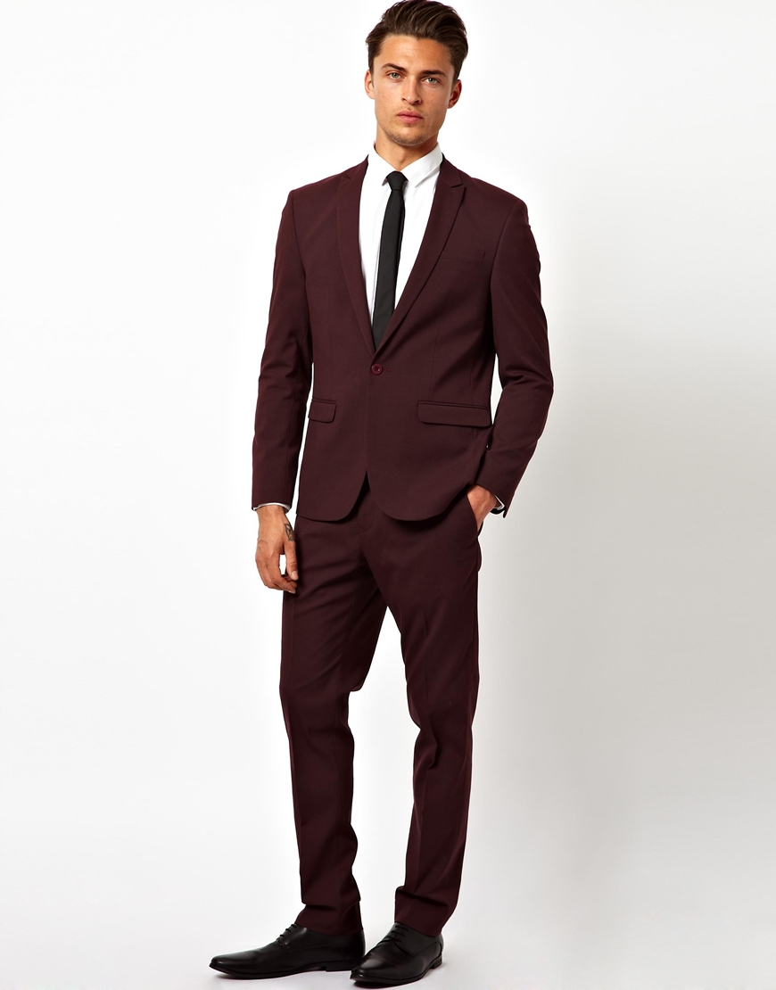 Black Suit And Bordo Shoes