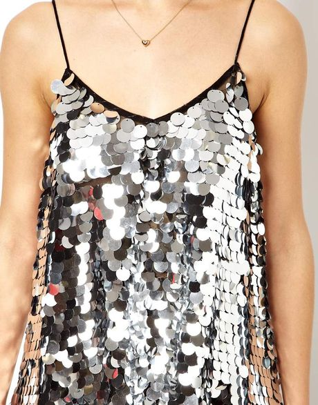 in Disc Sequins in Silver