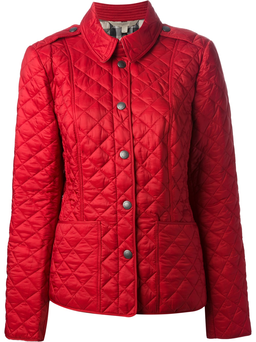 Burberry Brit Quilted Jacket In Red Lyst