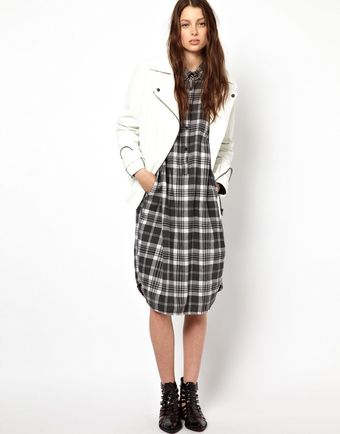 Cheap Monday Checked Dress - Lyst