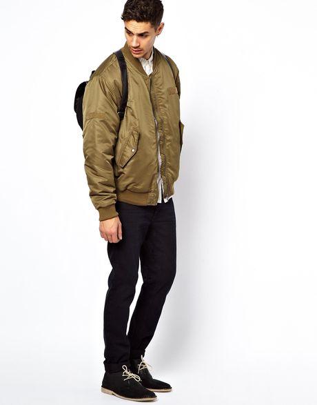 Cheap Monday Bomber Jacket in Khaki for Men (Green)