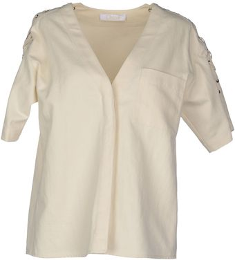 Chloé Short Sleeve Shirt - Lyst