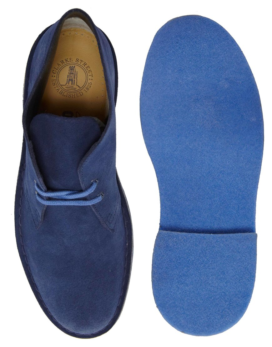 Clarks Blue Slip On Suede Shoes