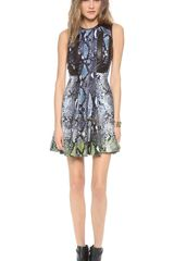 Diane Von Furstenberg Ida Leather Combo Dress - Lyst