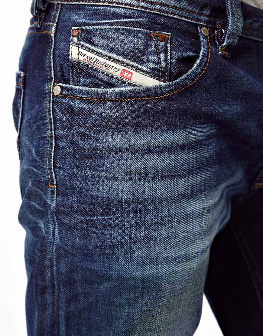 Diesel Jeans Larkee Straight 813t in Blue for Men | Lyst