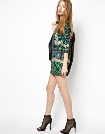 Emma Cook Shift Dress in Green Bargello Print - Lyst