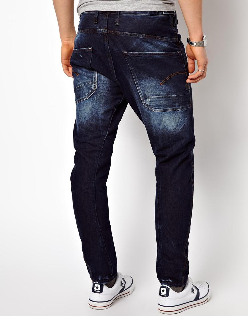 f8c103fa669 G-Star RAW G Star Jeans Davin 3d Loose Tapered Medium Aged in Blue ...